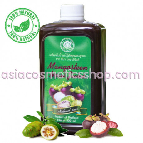 Nina Thai-Herbs Mangosteen Noni Juice, 500 ml