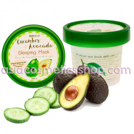 Daiso Cucamber& Avocado Sleeping Mask, 100 ml