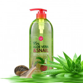Cathy Doll Aloe Vera & Snail Soothing Body Bath Gel, 750 ml