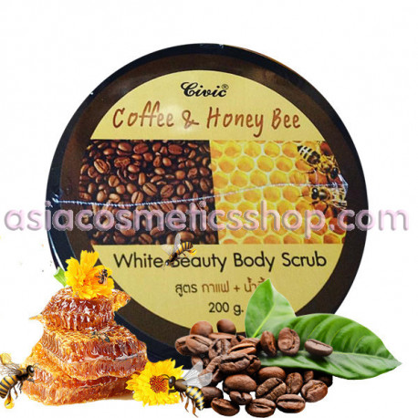 Civic White Body Scrub, 200 ml