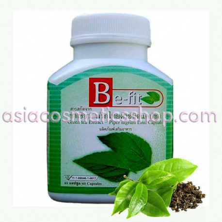 Be-Fit Slimming Capsules with Green Tea and Pepper Extract, 60 pcs