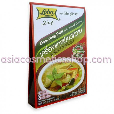 Lobo Green Curry Paste, 100 g