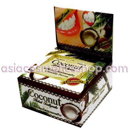 Тайская отбеливающая зубная паста с кокосом, 25 г