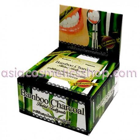 Тайская отбеливающая зубная паста с бамбуковым углем, 25 г