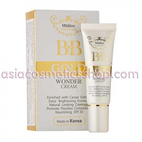 Mistine BB Gold Wonder Cream Caviar Extract Brightening SPF30, 15 g