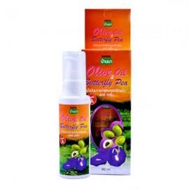 Banna Восстанавливающая сыворотка для волос с маслом оливы и мотыльковым горошком, 60 мл