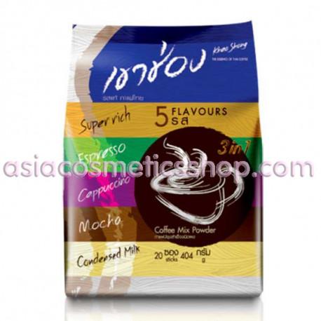 Khao Shong  Тайский растворимый кофе  5 вкуов 400 г/ 20 пак