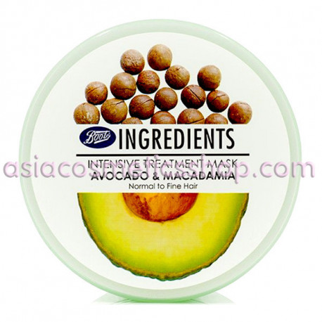 Ingredients Intensive Treatment Mask Avocado & Macadamia 400ml