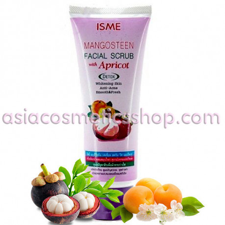 Isme Mangoesteen Facial scrub with apricot, 100 g