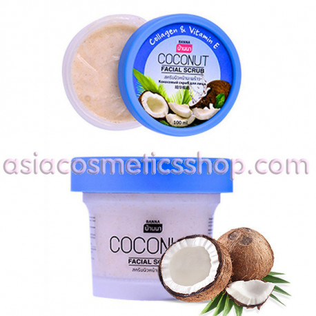 Facial scrub with collagen and vitamin E, 100 ml