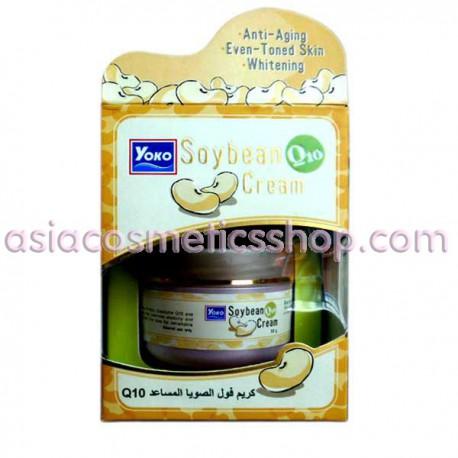 Интенсивно увлажняющий крем для лица с соевым белком и Q10, 50 г