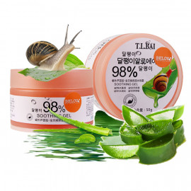 Soothing cream-gel with aloe vera and snail extract, 50 g