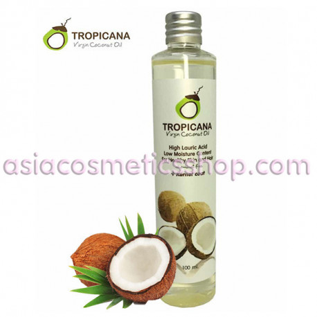 Coconut oil is 100% cold pressed Tropicana, 100 ml