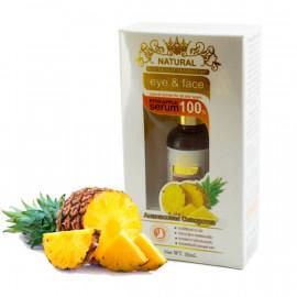 Natural Восстанавливающая сыворотка для лица с экстрактом ананаса, 35 мл