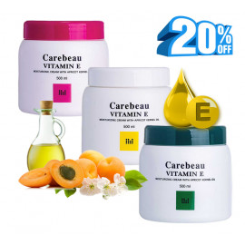 Carebeau Moisturizing body cream with apricot kernel oil and vitamin E, 500 ml