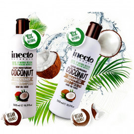 Inecto Pure Coconut Moisture Infusing Shampoo and Conditioner, 500 ml